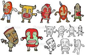 Se muestra imagen de caricatura de una tribu